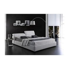 King Storage Bed, Modern Bedroom Furniture, Upholstered Platform Bed, Bed Sizes, King Beds, Grey Fabric, Storage Spaces, Hardwood Floors, Upholstery