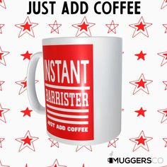This, Instant Barrister Coffee Mug makes for a cool funny gift that speaks of a person's passion for Law and coffee. Funny Coffee Mugs, My Collection, How To Become, Etsy