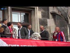 Manuela Zinsberger, Pepe Reina und Tom Starke @ FCB Meisterfeier 2015 am...
