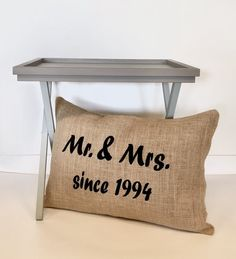 bol.com | Jute kussen met trouwdatum | Jubileum Cadeau | Trouwdag Cadeau Jute, Burlap, Reusable Tote Bags, Hessian Fabric, Utah, Canvas