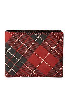 Fossil® Douglas Plaid Bifold Wallet #belk #men #gifts