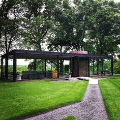 The Glass House in New Canaan, CT