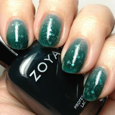How-To: Syrup-Glitter-Jelly Sandwich Mani featuring Zoya Frida and OPI Pirouette my Whistle