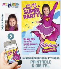 Super girl Birthday Invitation.  Super girl Party Ideas. Supergirl Birthday party Invitation. Pink Super Girl. Pink Super Girl Party. League of Justice Party Ideas for Girls. #supergirlBirthdayinvitation #supergirlPartyIdeas #supergirlbirthdayIdeas #supergirlcostume #LeagueOfJusticePartyIdeas #LeagueOfJusticePartyIdeasforGirls #PrintablePartyIdeas #myheroathome