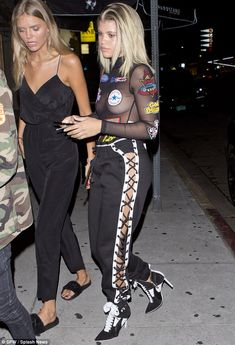 She's not shy: Sofia Richie wore a daring outfit while heading to The Nice Guy in West Hol...