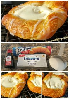 Crescent Cheese Danishes is part of Cheese danish So, I& a HUGE fan of making delicious recipes that are EASY This is one of those recipes! It never ceases to amaze me all the things that you can - Think Food, Love Food, Breakfast Dishes, Breakfast Recipes, Breakfast Casserole, Breakfast Pastries, Breakfast Cheese Danish, Breakfast Ideas, Breakfast Cake