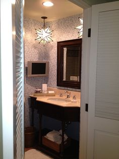 Love these light fixtures for a bathroom