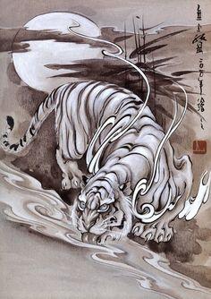 Татуировка Тату Книги Видео Tattoo Books Video | VK Japanese Drawings, Japanese Prints, Tattoo Studio, Lion Tigre, Japanese Tiger Tattoo, Beast Creature, Asian Tattoos, Japan Tattoo, Oriental Tattoo