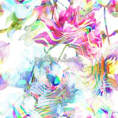 Abstract Flower Neon