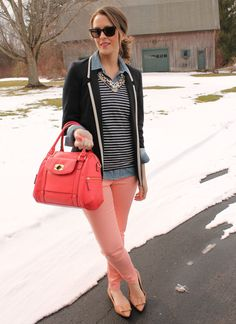 Tipped Blazer and jeans