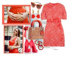"""""""CORAL BREEZE"""" by harperleo ❤ liked on Polyvore featuring Victoria Beckham, Thierry Lasry, Lab, Christian Louboutin, Giambattista Valli, NEST Jewelry and Oscar de la Renta"""