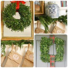 Holly Mathis Interiors: Stockings + boxwood