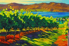 Vineyard Painting by Robyn Lake www.wineartbc.com