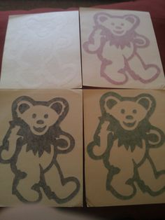 "Grateful Dead Jerry Bear 5 1/4""x6 5/8"" Window STICKER DECAL"