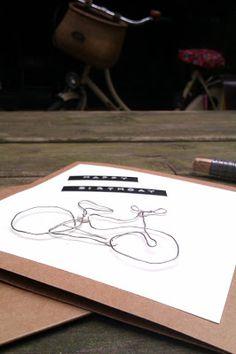 """Drahtesel (oder """"Eine Geburtstagskarte für Fahrradverliebte"""")"""