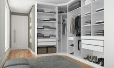 Conjunto Closet Modulado Classic Branco - Incolar