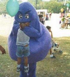 grimace eats child