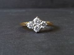 0.60 Carat Diamond Cluster Engagement Ring Four Stone by ArahJames