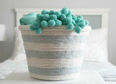 Turn a trash can into a laundry basket. Pretty cool!