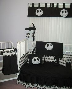 Lampert Lampert Greer I want a baby now so that I can have this lol! New Nightmare Before Christmas JACK baby Crib Bedding Set custom made to order Nightmare Before Christmas, New Nightmare, Baby Crib Bedding Sets, Baby Cribs, Comforter Sets, Christmas Baby Shower, Kids Christmas, White Christmas, House Contemporary