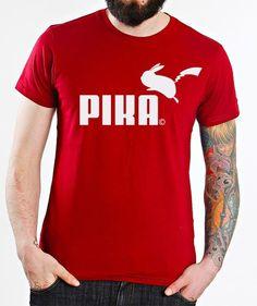 Pokemon Go Super Pikachu Pika Puma Smooth Damen T Shirt