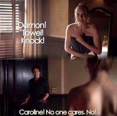 "Carolin (Candice Accola) and Damon (Ian Somerhalder) - ""The Vampire Diaries"""