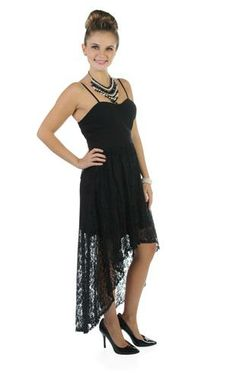 Asymmetrical Black Summer Dress - Great site for cute, inexpensive clothes! $50.00