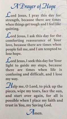 A Prayer of Hope