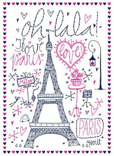 Mek Frinchaboy #illustrations and #lettering of Paris for #fashion brand