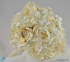 Ivory Rose Bouquet - Wedding Accessories by Blue Petyl - Loverly
