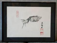 gyotaku d'un calamar