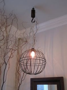 Anythingology: How To Make A Metal Hanging Light