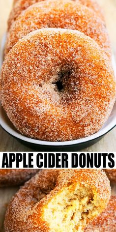 Easy baked apple cider donuts recipe, homemade with simple ingredients in about 30 minutes. Coated in spiced cinnamon sugar. Soft, moist and tender! Easy Donut Recipe, Baked Donut Recipes, Baked Doughnuts, Pancake Recipes, Apple Cider Doughnut Recipe, Baked Cider Donuts Recipe, Cake Donut Recipe Baked, Apple Cider Cookies, Donuts Donuts