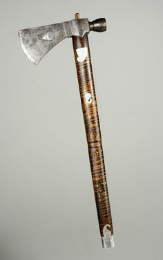 Pipe tomahawk that once belonged to Red Jack, or Sagoyewatha, a prominent Seneca chief (ca. 1750-1830).  Steel, silver.  Gift of Dr. Samuel W. Francis, New-York Historical Society, 1862.1.  The pipe tomahawk, a symbol of diplomacy, was reportedly given to Red Jacket by President George Washington. The donor's father, Dr. John W. Francis, purchased the pipe tomahawk directly from the Seneca chief.