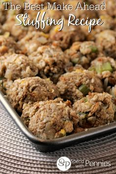 This turkey stuffing recipe is not only delicious, it can easily be made a day ahead!