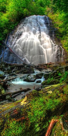 ✯ Crabtree Falls located off of the Blue Ridge Parkway