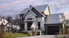 Modern house with new farmhouse exterior design pulling out country charm and warm welcoming display Image 30 - SHAIROOM. Exterior Wall Tiles, Exterior House Colors, Exterior Design, Farmhouse Architecture, Modern Farmhouse Exterior, Modern Architecture, Home Building Design, Building A House, House Design