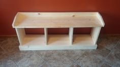 Entryway Bench by DeerLakeDesigns on Etsy