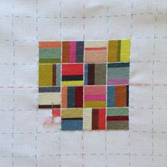 Simple idea but with the right combination of shades it's beautiful! Abstract Embroidery, Diy Embroidery, Cross Stitch Embroidery, Embroidery Patterns, Cross Stitch Patterns, Needlepoint Designs, Needlepoint Stitches, Needlepoint Canvases, Needlework
