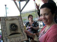 Love this sheet music & bird's nest art!