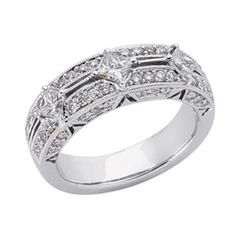 14k White Trendy 1.15 Ct Diamond Band Ring – Size 7.0 – JewelryWeb | Your #1 Source for Jewelry and Accessories