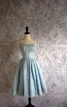 Hey, I found this really awesome Etsy listing at https://www.etsy.com/listing/156397844/vintage-1950s-prom-dress-tulle-50s-pale