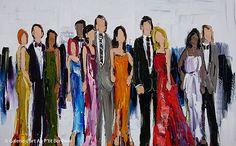 Kimberly Kiel, 'Always Red Carpet Ready', 30'' x 48''   Galerie d'art - Au P'tit Bonheur - Art Gallery