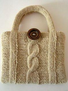 Free Knitting Pattern - Bags, Purses & Totes: Frida's Bag