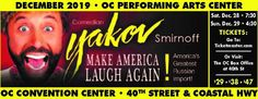 Join us as Comedian Yakov Smirnoff takes the stage at the Ocean City Convention Center with his Make America Laugh Again! Ocean City Md, Convention Centre, Event Calendar, Months In A Year, Comedians, How To Plan, How To Make, Laughter