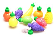 Candy powder fruits. I used to LOVE these. I would use the empty bottle as a necklace pendant.