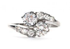 Vintage Engagement Rings via Trumpet & Horn
