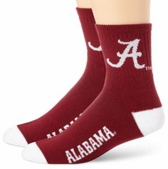 Amazon.com: NCAA Alabama Crimson Tide Men's Team Quarter Socks, Large: Sports & Outdoors