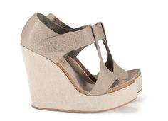 Tressa, 'pebbly' t-bar sandal in pumice cervo  | Pedro Garcia Shoes Spring Summer 2014