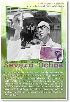 Dr. Severo Ochoa - First Latino American to Win Nobel Prize in Medicine - Classroom Poster